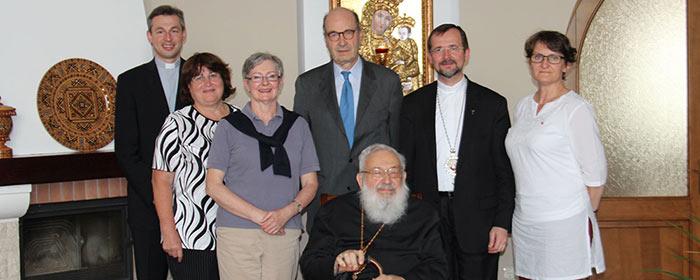Delegação da ACN visita o Cardeal Lubomyr Husar