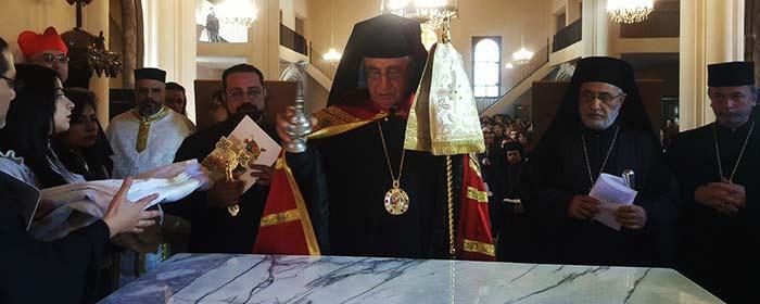 Consagração do altar da catedral de Homs