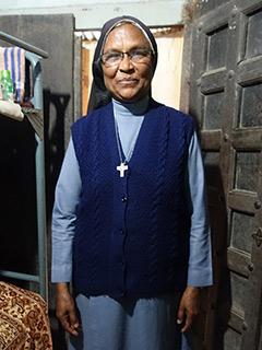 Religiosa na Casa de Missão de Amgachhi