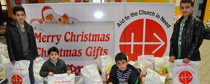 Presentes de Natal para as crianças iraquianas