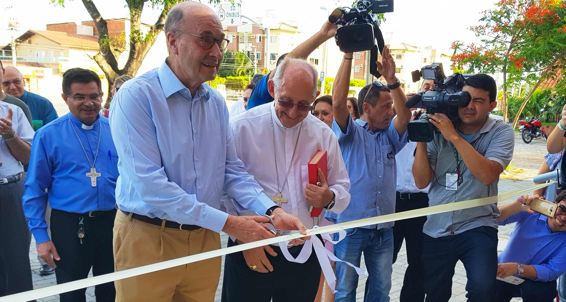 Obra papal inaugurada em Fortaleza, no CEU (Condomínio Espiritual Uirapuru).
