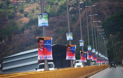 Propaganda de Maduro para as eleições na Venezuela