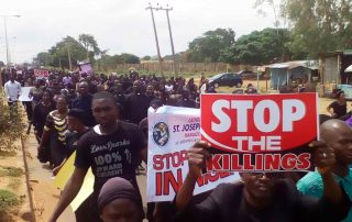 Cristãos protestam contra ataques dos pastores fulani na Nigéria