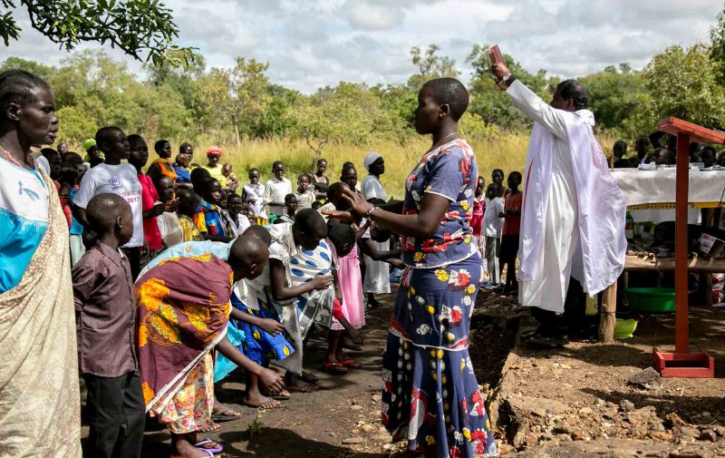 Celebração em campo de refugiados do Sudão do Sul (Palabek, Uganda)