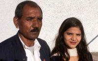 Marido e filha de Asia Bibi no Reino Unido
