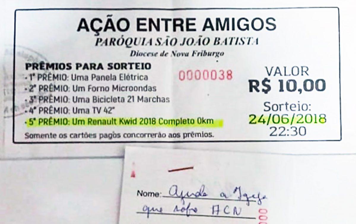 Rifa da paróquia São João Batista, em Macaé(RJ)