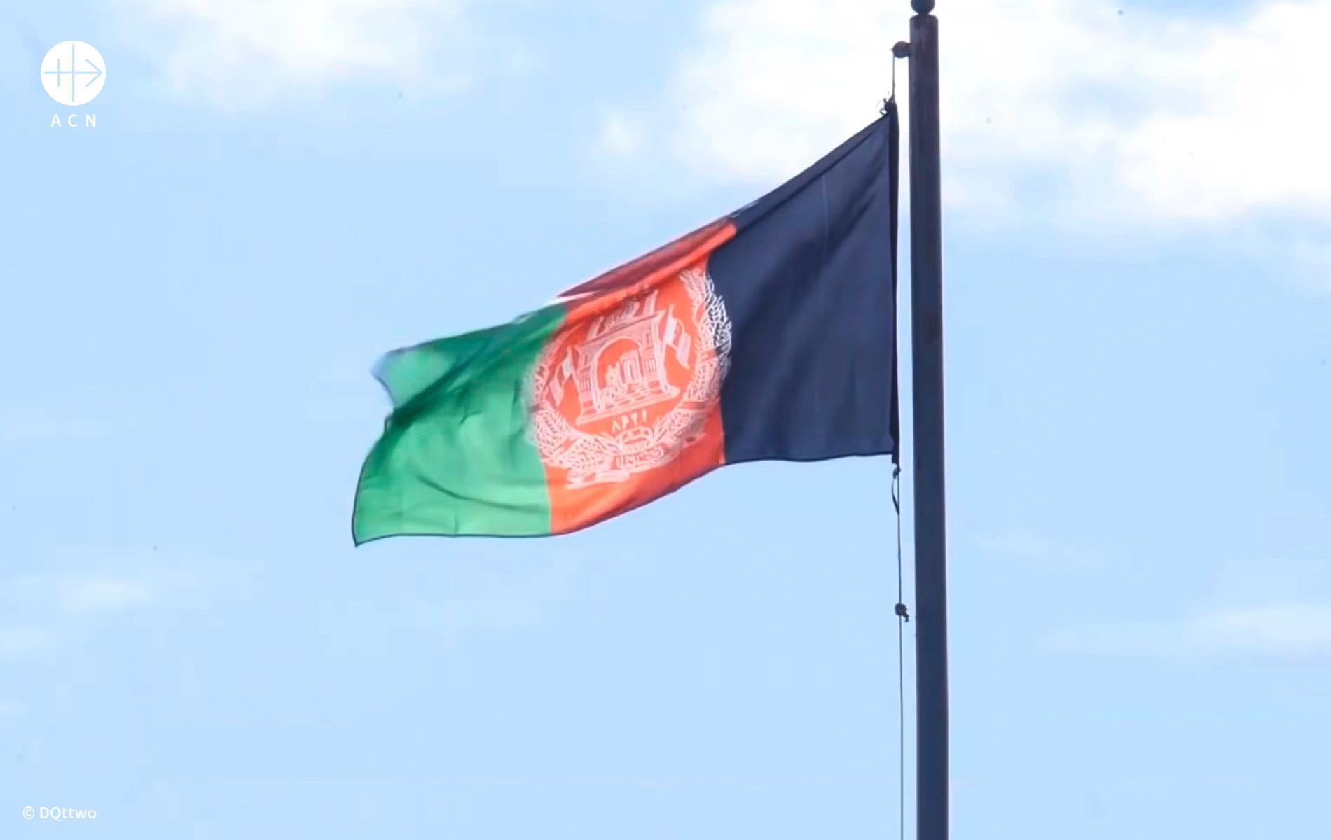 Foto da bandeira do Afeganist]ao